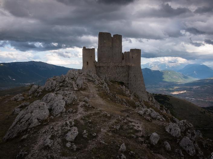 Castle in dark